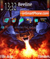 Dragon 2 theme screenshot