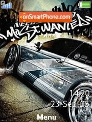 Nfs Most Wanted 10 es el tema de pantalla
