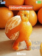 Скриншот темы Orange Man 01