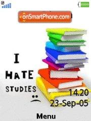 Скриншот темы I Hate Studies
