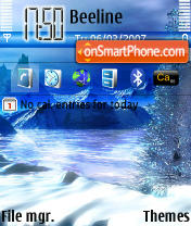 Winter v2 tema screenshot