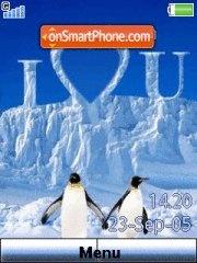 Penguin Love 01 es el tema de pantalla