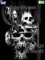Black Skull 01 tema screenshot