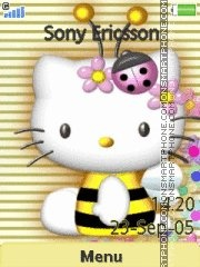 Hello Kitty Bee es el tema de pantalla
