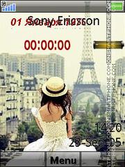 Paris Clock es el tema de pantalla