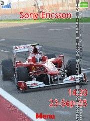 Fernando Alonso 2010 theme screenshot