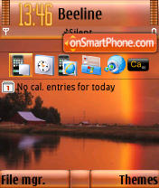 Скриншот темы Fall River