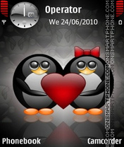 Penguin Love tema screenshot