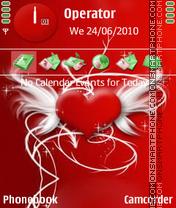 Скриншот темы Red Heart
