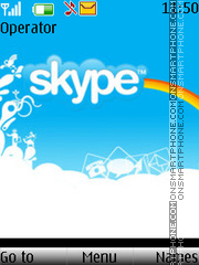 Skype With Ringtone theme screenshot