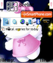 Скриншот темы Hello Kitty 568