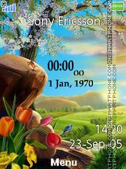 Spring Clock es el tema de pantalla