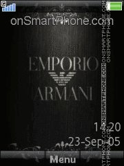 Emporio Armani 01 theme screenshot