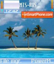 Azul26 Ocean es el tema de pantalla