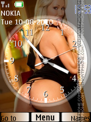 Girls SWF Clock theme screenshot