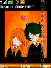Harry+Ginny=Love) theme screenshot