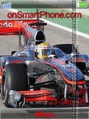 Lewis Hamilton 2010 theme screenshot