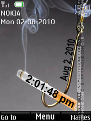 Cigarettes clock theme screenshot