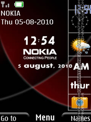 Nokia N79 Clock tema screenshot