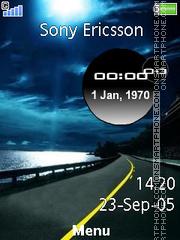 Road Side Clock theme screenshot