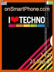 I Love Techno 01 es el tema de pantalla