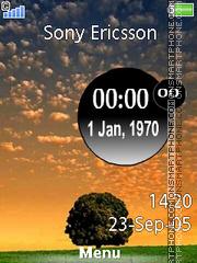 Tree Clock es el tema de pantalla