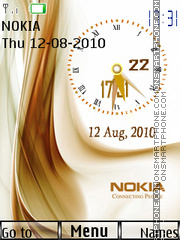 Nokia Dual Clock theme screenshot