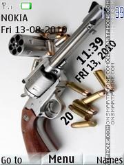 Gun Clock 01 es el tema de pantalla