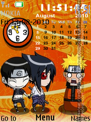Naruto Parody Clock theme screenshot