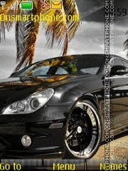 Black Mercedes Benz tema screenshot