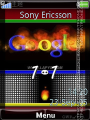 Capture d'écran Google Clock thème