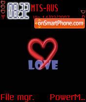 Animated Red Love es el tema de pantalla