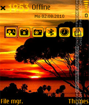 Sunset5 theme screenshot