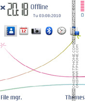 S60 white 01 tema screenshot