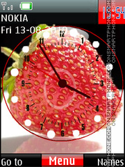 Strawberry Clock theme screenshot