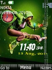 Dance Dual Clock es el tema de pantalla