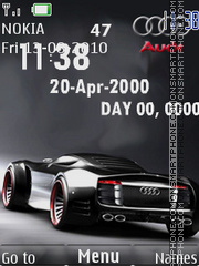 Audi Tone and Clock theme screenshot