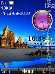 Скриншот темы Nature Dual Clock