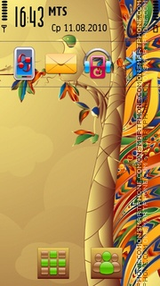 Bird Abstract tema screenshot