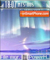 Blue Moon tema screenshot
