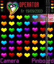 Colorful Heart es el tema de pantalla