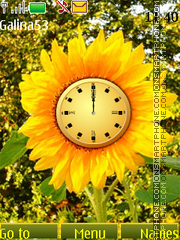 Sunflower clock anim theme screenshot