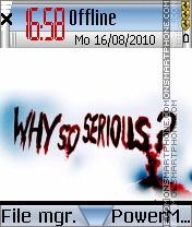 Why so serious es el tema de pantalla