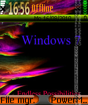 Window 7 theme screenshot