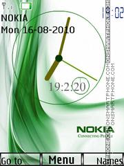Скриншот темы Nokia Dual Clock 01