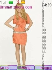 Скриншот темы Hannah Montana forever
