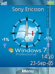 Win 7 Pro es el tema de pantalla