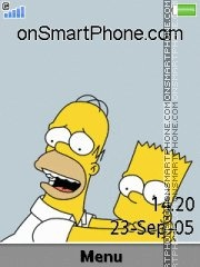 Capture d'écran Homer 06 thème