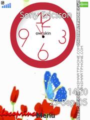 Butterfly Clock 02 theme screenshot