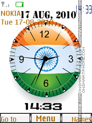 Indian Dual Clock theme screenshot